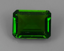 1.50 CTS ATTRACTIVE ULTRA RARE NATURAL CHROME DIOPSIDE OCTAGON RUSSIA!!
