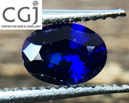 Certified - 0.45ct - Royal Blue Sapphire