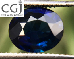 Certified - 0.95ct - Royal Blue Sapphire