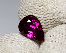 UNHEATED 1.09 CTS CERTIFIED STUNNING PEAR CUT RED RUBY FROM MOZAMBIQUE