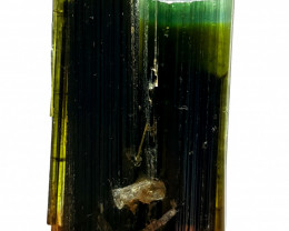 Twin bicolor damage free Tourmaline crystal 40Cts-Pakistan