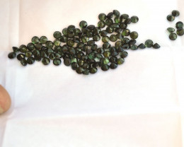 27.86 Carat Parcel of Fine 4mm Green Tourmaline Rounds