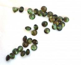 8.68 Carat Parcel of Bright 4mm Green Tourmaline Rounds