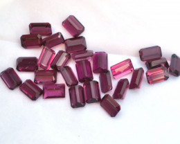 16.81 Carat Bright Raspberry Red Tourmalines