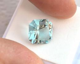 5.96 Carat Fancy Square Cut Phenomenal Aquamarine