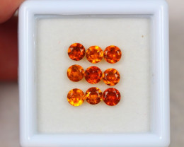 2.17ct Hessonite Garnet Round Cut Lot GW3600