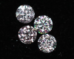1.66mm Natural Light Pink To White Diamond Clarity VS Lot Z303