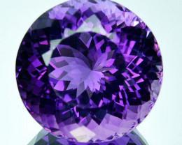 ~PRETTY~ 19.56 Cts Natural Purple Amethyst Round Cut Bolivia