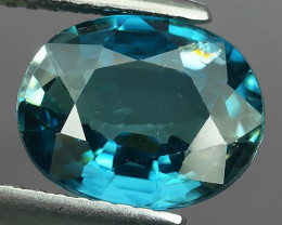 3.55 CTS~AWESOME BLUE ZIRCON FACET GENUINE CAMBODIA~GEM!!