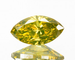 0.21 Cts Natural Diamond Golden Yellow Marquise Cut Africa