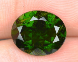 3.93 CTS RARE RUSSIAN GREEN CHROME DIOPSIDE NATURAL GEMSTONE
