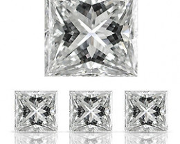 0.09 ct Princess Cut Diamond (E / VS1)