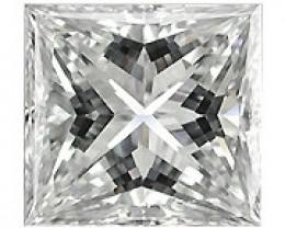 0.09 ct Princess Cut Diamond (E / VS1)