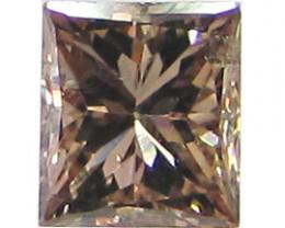 0.32 ct Princess Cut Diamond (Fancy Cognac / SI2)
