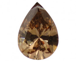 0.33 ct Pear Shape Diamond (Fancy Brown / VS2)