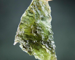 Shiny Authentic Moldavite with open bubble quality A+