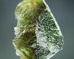Shiny Moldavite with open bubble