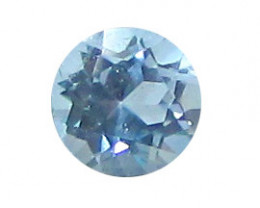 0.89 ct Round Fine Blue Aquamarine