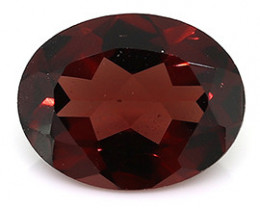 1.98 ct Oval Reddish Brown Garnet