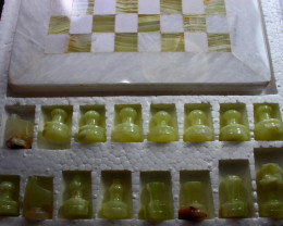 7950 CT Natural Onyx Carved Chess Board Special Shape