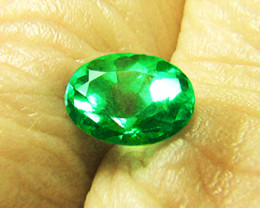 1.28 ct GIA Certified  Minimally Treated Gorgeous Colombian Emerald Absolut