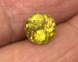 1.55 Carat Sphene Russian Flash Rare Untreated and Exotic !