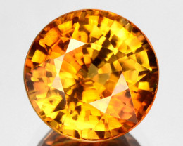 3.89 Cts Natural Golden Yellow Zircon Round Cut Tanzania