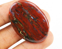 Genuine 40.00 Cts Bloodstone Cab