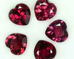 Fabulous 7.83Ct Natural Purple Pink Rhodolite Garnet Heart 7mm