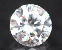 4.18mm Pink Diamond Untreated Round Brilliant Cut Fancy A1501