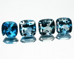 Glorious 4.39Ct Natural London Blue Topaz Cushion 6mm Calibrated