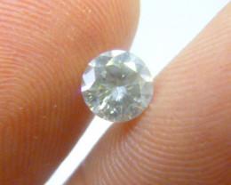 0.90ct  Faint Green Diamond , 100% Natural Untreated
