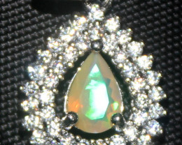 Natural Ethiopian Fire Opal 925 Silver Pendant 267
