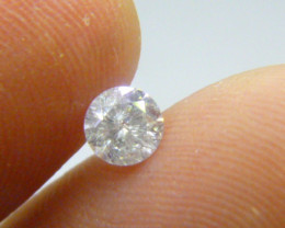 0.56ct F - I1  Diamond , 100% Natural Untreated