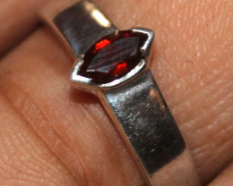 Natural 925 Sterling Silver Faceted Tourmaline Ring Size (US 7) 95