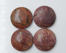 33.25cts Wholesale Gemstone Multi Color Jasper Cabochon Round Beads C115