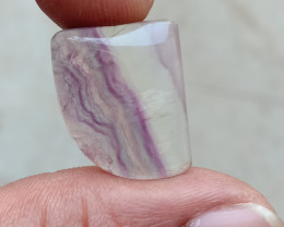 BANDED FLUORITE BEAUTIFUL CABOCHON Natural+Untreated VA4346