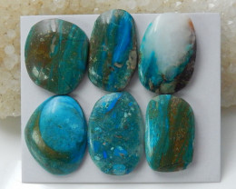 Pure Blue 99cts Blue Opal Cabochon, October Birthstone, Blue Opal Bead C121
