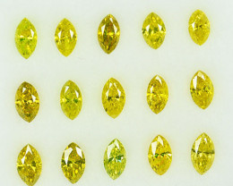 1.36Ct Dazzling Natural Canary Yellow Diamond Marquise 4 X 2mm Lot