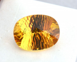 9.76 Carat Fantastic Fancy Oval Cut Heliodor Beryl