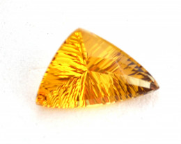 3.99 Carat Fantastic Fancy Trillion Laser Cut Heliodor Beryl