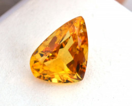 3.49 Carat Fancy Fat Pear Shaped Heliodor Beryl