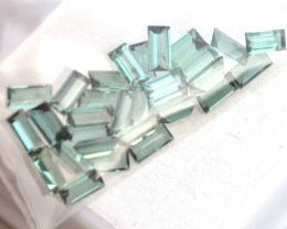 6.55 Carat Parcel of Top Color Blue-Green Tourmaline Baguettes