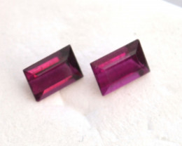 1.13 Carat Fine Matched Pair of Vibrant Pink Tourmalines