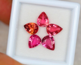 3.32ct Pink Tourmaline Pear Cut Lot V3849