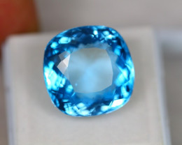 25.00ct Natural Swiss Blue Topaz Cushion Cut Lot D171