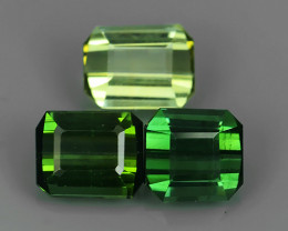 OCTAGON ~EXCELLENT~2.75 CTS WONDERFUL CHARMING NATURAL GREEN TOURMALINE!!