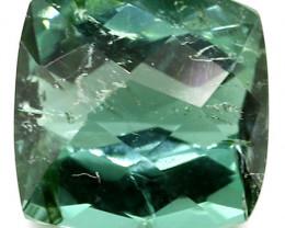 3.44 ct Rich Green Cushion Cut Tourmaline
