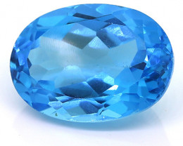 17.16 ct Fine Royal Blue Oval Topaz