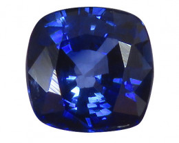 0.94 ct Rich Royal Blue Cushion Cut Blue Sapphire